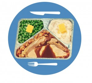 TV Dinner with icon of utensils