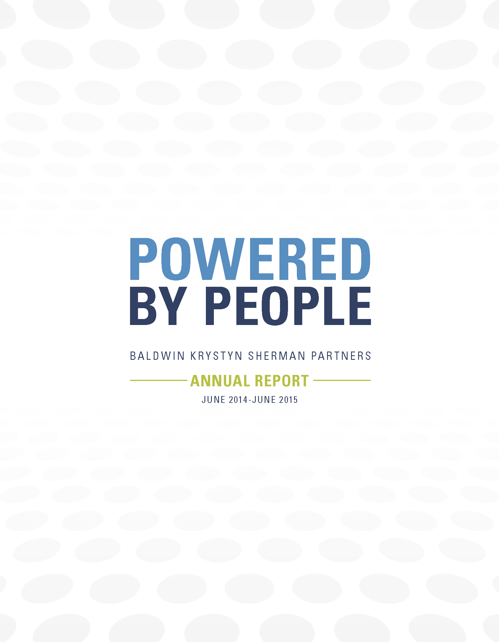 2014-2015 BKS Annual report