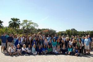 BKS Colleagues pose together in group at Tampa Zoo