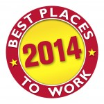 2014 Best Places to Work logo outlined