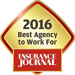 2016 Best Agency to work for Insurance Journal