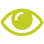 seedling green eye icon
