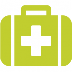Seedling green medicine bag icon
