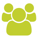 seedling green group of people icon