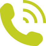 seedling green ringing phone icon