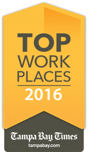 Tampa Bay Times Top Places to Work 2016 Award