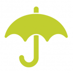 seedling green umbrella icon