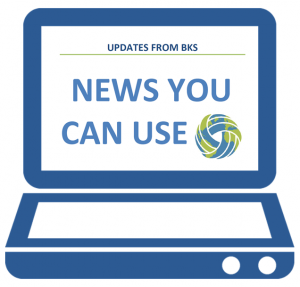 "Laptop icon with text that reads ""Updates from BKS. News you can use."""