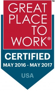 Great Place to Work Certified May 2016 - 2017