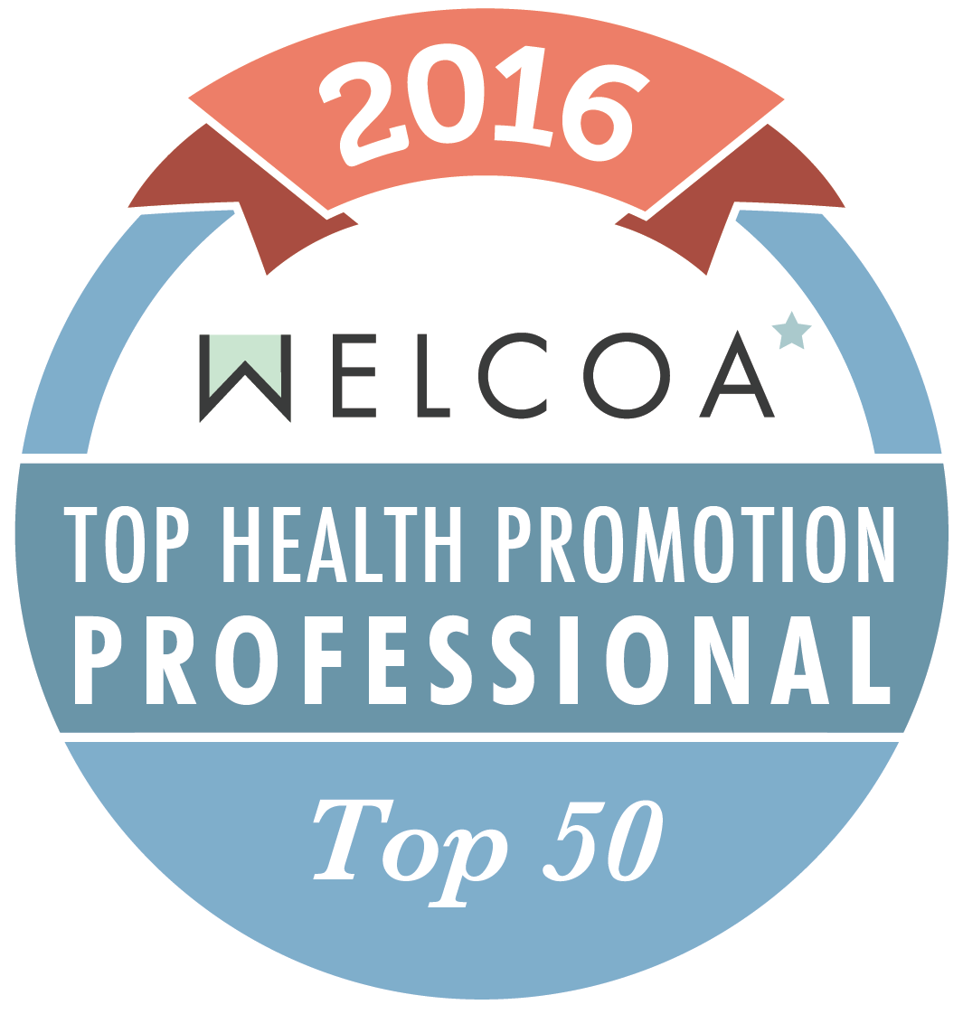 2016 WELCOA top health promotion professional top 50