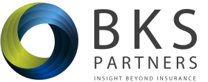 "BKS-Partners Mongrammed Logo and tagline, ""BKS Partners, Insight Beyond Insurance"""