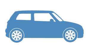 icon of a hatchback style car