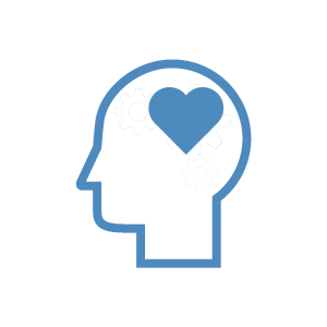icon of a heart in a person's head