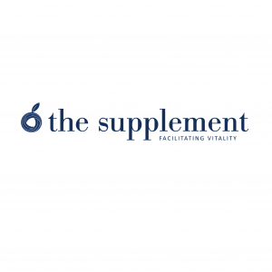 "Logo Reading ""The Supplement; Facilitating Vitality"""