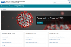 CDC Front Page Screen Shot