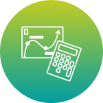 calculator and graph icon